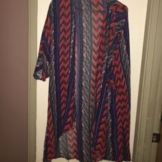 Multi colored cover up! Boho Aztec print cover up,great condition multi uses! Cute! Forever 21 Swim Coverups