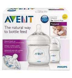 #Avent Philips AVENT Natural Bottle 125ml x 2 10140097 #56 Advantage card points. The new Philips AVENT bottle helps to make bottle feeding more natural for your baby and you. BPA free FREE Delivery on orders over 45 GBP. (Barcode EAN=8710103561866)