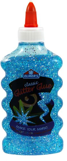 Frozen Slime Recipe for Kids ~ Growing A Jeweled Rose Supplies -1bottle of Chilled blue Gitter Glue