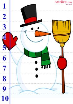 математические пазлы для детей 2, 3, 4, 5 лет, скачать Winter Activities For Toddlers, New Years Activities, Christmas Activities For Kids, Preschool Christmas, Preschool Puzzles, Numbers Preschool, Preschool Education, Christmas Puzzle, Snow Theme