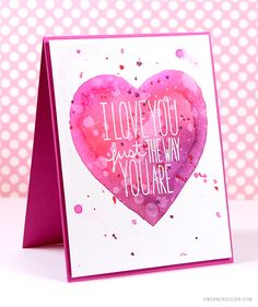 Masked Watercolor Heart Cards – Make a Card Monday #270 with Video Tutorial | Watercolor: DISTRESS INKS