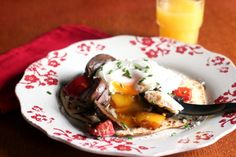Poached Eggs, Mushrooms, Peppers and Navajo Bread...you gotta try this!