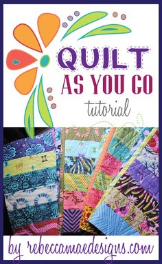 How to join quilt blocks using the quilt as you go method. Quilt As You Go, How To Hand Quilt, Easy Quilts, Small Quilts, Quilting Tips, Quilting Tutorials, Quilting Projects, Beginner Quilting, Quilting For Beginners