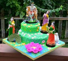 Jai Shree RadheKrishna..May Lord Krishna'sflute invite the melody of love into your life..May Radhaji's love teach you not only how to love but to love eternally.  #lovethis #beautiful #cake #Krishna #Radha #eternallove #love #LordKrishna #kanha #flute #lotusflower #spiritual #Hindu #Hinduism #spring2014 #flowers #colours #beautyoflife #desi #Indian #colourful #loveistheonlyanswer #loveisallweneed #peace #happiness#garlands #peacock