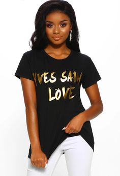 Get glam in the slogan t-shirt trend this season from Pink Boutique. Shop your favourites with UK Delivery and Next Day Delivery available! Pink Boutique Uk, Boutique Shop, Love Slogan, Get Glam, T Shirts For Women, Clothes For Women, Sweater Weather, Black Print, Cool T Shirts