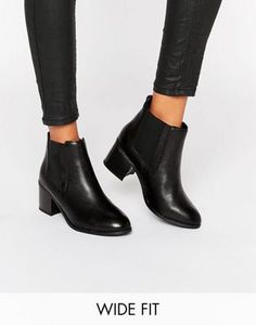New Look Wide Fit Leather Chelsea Boot