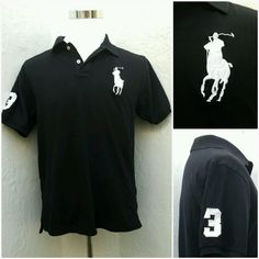 1acb1aa60 Ralph Lauren Polo Shirt Big Pony Classic Mesh Custom Fit #3 Black Men's  Size L #PoloRalphLauren #PoloRugby. Rita Pop · Cool men's Shirts Vintage  and New
