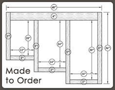 Custom Made to Order Face Frames