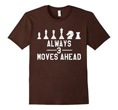 Men's Chess Always 3 Moves Ahead Game Distressed T-Shirt Large Brown >>> Be sure to check out this awesome product.