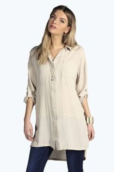 Sarah Longline Oversized Shirt. Get unbelievable discounts up to 60% Off at Boohoo using Coupon & Promo Codes.