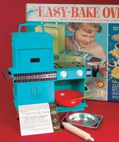 """The """"Easy Bake"""" Oven - A toy that could actually bake by using a light bulb for heat."""