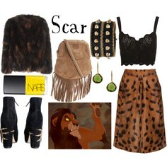 Inspired by Disney: Scar - The Lion King by belleoftheball on Polyvore #nars #topshop #versace
