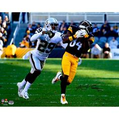 """Antonio Brown Pittsburgh Steelers Fanatics Authentic Autographed 16"""" x 20"""" Over the Shoulder Photograph - $149.99"""