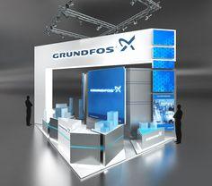 Дизайн-проект выставочного стенда Grundfos | Okeystudio