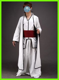 Free Shipping Bleach Aizen Sousuke Hollow World Hueco Mundo Kimono Uniform Anime Cosplay Costumes