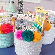 Gift Baskets for Teachers! - Oh Joy! Gift Baskets for Teachers! / via Oh Joy! Crochet Christmas Gifts, Christmas Gift Baskets, Teacher Christmas Gifts, Diy Christmas, Teacher Gift Baskets, Diy Gift Baskets, Summer Gift Baskets, Raffle Baskets, Gift Hampers