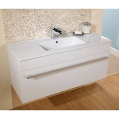 Odessa White Wall Hung 1000 Drawer Unit & Inset Basin Inset Basin, Basin Unit, Drawer Unit, Bathroom Furniture, Bathroom Ideas, Dream Bathrooms, The Unit, Sink, Drawers