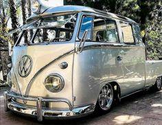 Volkswagen Bus, Vw T1 Camper, T3 Vw, Campers, Combi Vw T2, Combi Ww, Kombi Pick Up, Kombi Trailer, Carros Retro