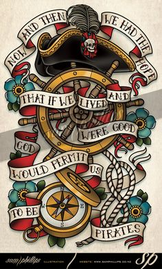 This is a half sleeve tattoo I designed for Kevin Hollis. Copyright. www.samphillips.co.nz