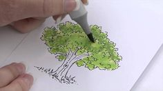 How to use Copic Markers to Color Foliage - video
