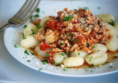 Turkey Bolognese over Gnocchi.. Photo by Leah.