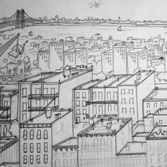 A little taste of a big, New-Yorky piece I'm working on right now.