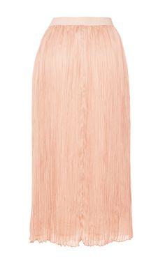 AGNONA Plisse Midi Skirt $1,890 (charmeuse seta)