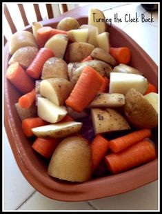 Easy Pot Roast with RÖMERTOPF® natural clay cookware and a Give Away! - Turning the Clock Back