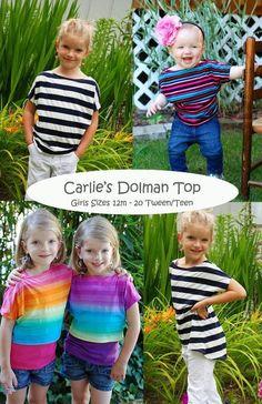 Carlie's Dolman Top pattern on Craftsy.com pdf pattern $9.95