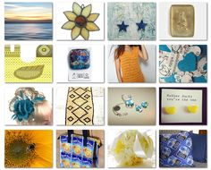 Yellow Sun and Blue Sky by Peculiaris on Etsy, I♥UK Weekly T #25!