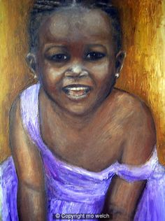 african child in moave