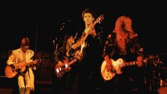 8 July (1972) at Festival Hall, London. Lou Reed is backed by David Bowie and 'The Spiders From Mars' (lou, david and mick ronson) - [Performing: White Light/White Heat, I'm Waiting For The Man, and Sweet Jane].