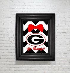 UGA Bow wall decor $15 Www.facebook.com/custom.designs.by.ana