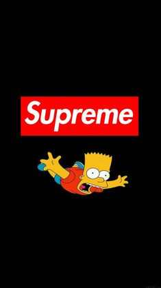 Ios 7 Wallpaper, Supreme Wallpaper, Black Wallpaper, Screen Wallpaper, Black Cartoon, The Simpsons, Artist Painting, Bart Simpson, Wall Papers