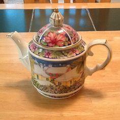 James Sadler Colorful Teapot Bermuda Island Fine China England