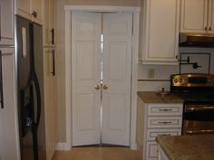 Another option - doors for tight spaces.  Can be made from a set of bifold doors?