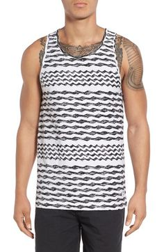 Product Image, click to zoom Print Tank, Tank Man, Nordstrom, Stripes, Zip, Tank Tops, Cotton, T Shirt, Image