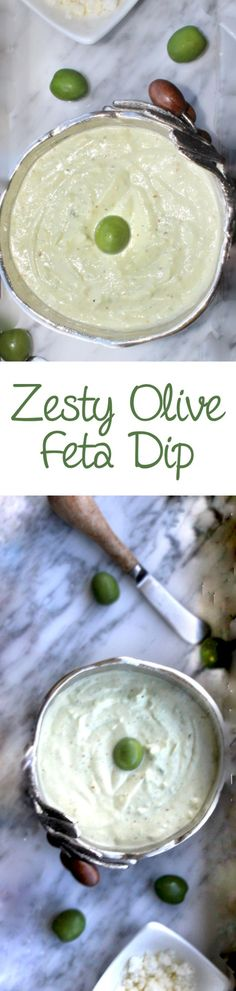 Creamy olive dip made with buttery castelvetrano olives, light mayo and feta and Parmesan cheeses. Perfect appetizer for spreading on toast points. Recipes Appetizers And Snacks, Low Carb Appetizers, Appetizer Dips, Yummy Appetizers, Appetizer Party, Party Recipes, Healthy Cooking, Healthy Snacks, Healthy Recipes