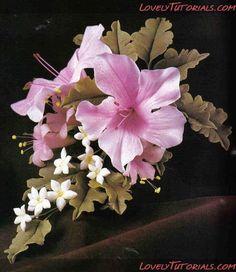 МКлепкаАзалия-Gumpaste (fondant,polymer clay) azalea flower making tutorial -Мастер-классыпоукрашениютортов Cake DecoratingTutorials (How To's) Tortas Paso a Paso  | followpics.co