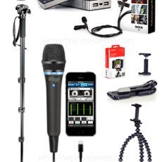 IKMultiMedia iRig Mic HD, Manfrotto Monopod with P/T. by Glenbmulcahy Digital Photography, Multimedia, Journalism, Kit, Treasure Chest, Contents, Image, Budget, Selfie