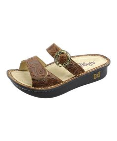 Take a look at the Brown Country Strong Karmen Slide on #zulily today!