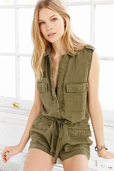 Ecote Croft Romper - Urban Outfitters