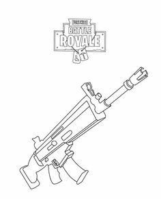 Ausmalbilder Fortnite Waffe Basteln In 2019 Coloring Pages