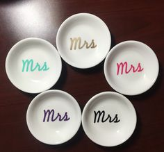 Mrs Ring Dish Custom Wedding & Engagement by PearlsAndPennies