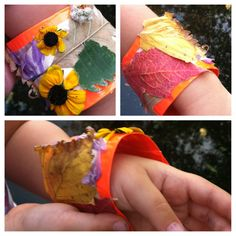 Go on a nature hike to create a nature bracelet! Navigating the Mothership: Activities for Toddlers & Preschoolers