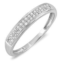 This lovely diamond Ring feature 0.13 ct white diamonds in micro pave setting. All diamonds are sparkling and 100% natural. All our products with FREE gift box and 100% Satisfaction guarantee. SKU # K...