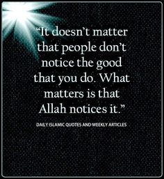 Do good for Allah