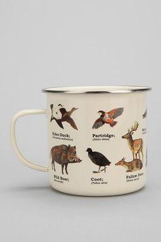 Enamel Mug - Urban Outfitters Kitsch, Mug Crafts, Cool Mugs, Cheap Gifts, Inexpensive Gift, Mug Cup, Coffee Cups, Coffee Coffee, Tea Pots