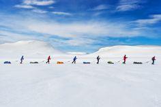 Una carrera que sigue el rastro de la expedición Admundsen.