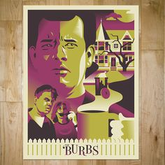 Design & Illustration out of Grand Rapids Michigan. Grand Rapids Michigan, The 'burbs, Screen Printing, Funny Jokes, Movies, Films, Illustration, Prints, Movie Posters